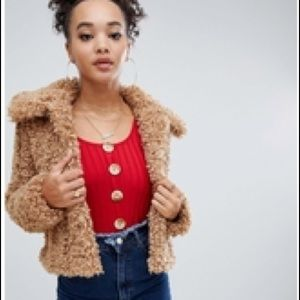 a9cb808a9c Boohoo Jackets   Coats - Deals on Boohoo Plus teddy coat in brown - Brown S
